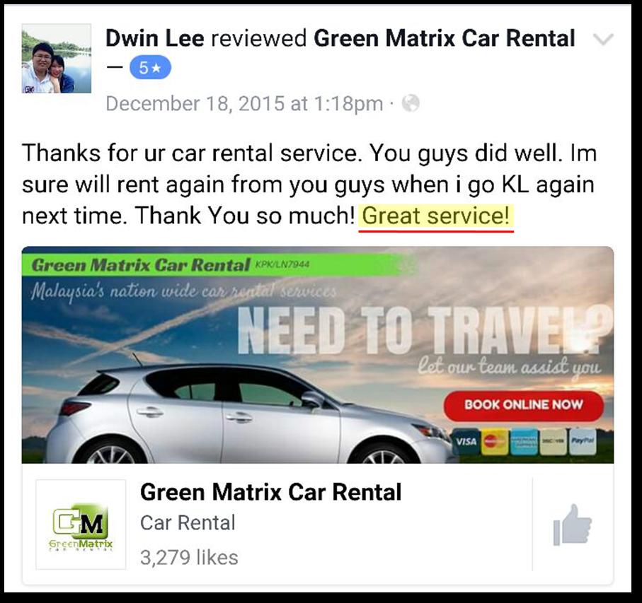 Green Matrix Car Rental Kuala Terengganu