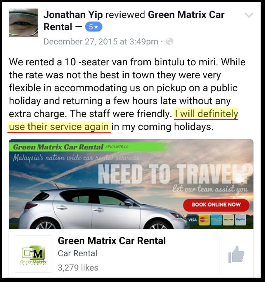 Green Matrix Car Rental Johor